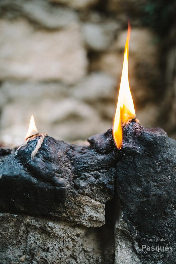 Le feu représente l'incarnation du Soleil sur Terre pour les yézidis.